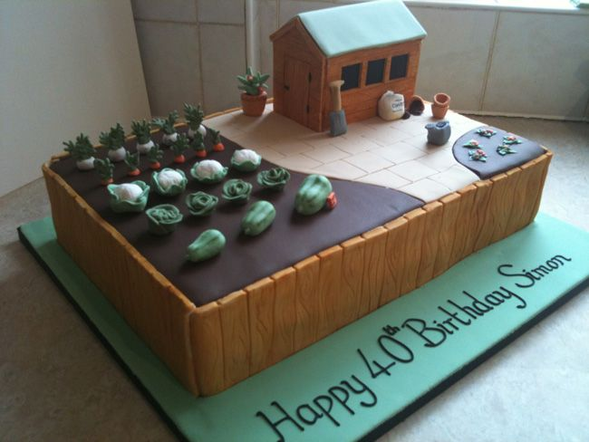 allotment cakes gardening allotment cake cake ideas and designs