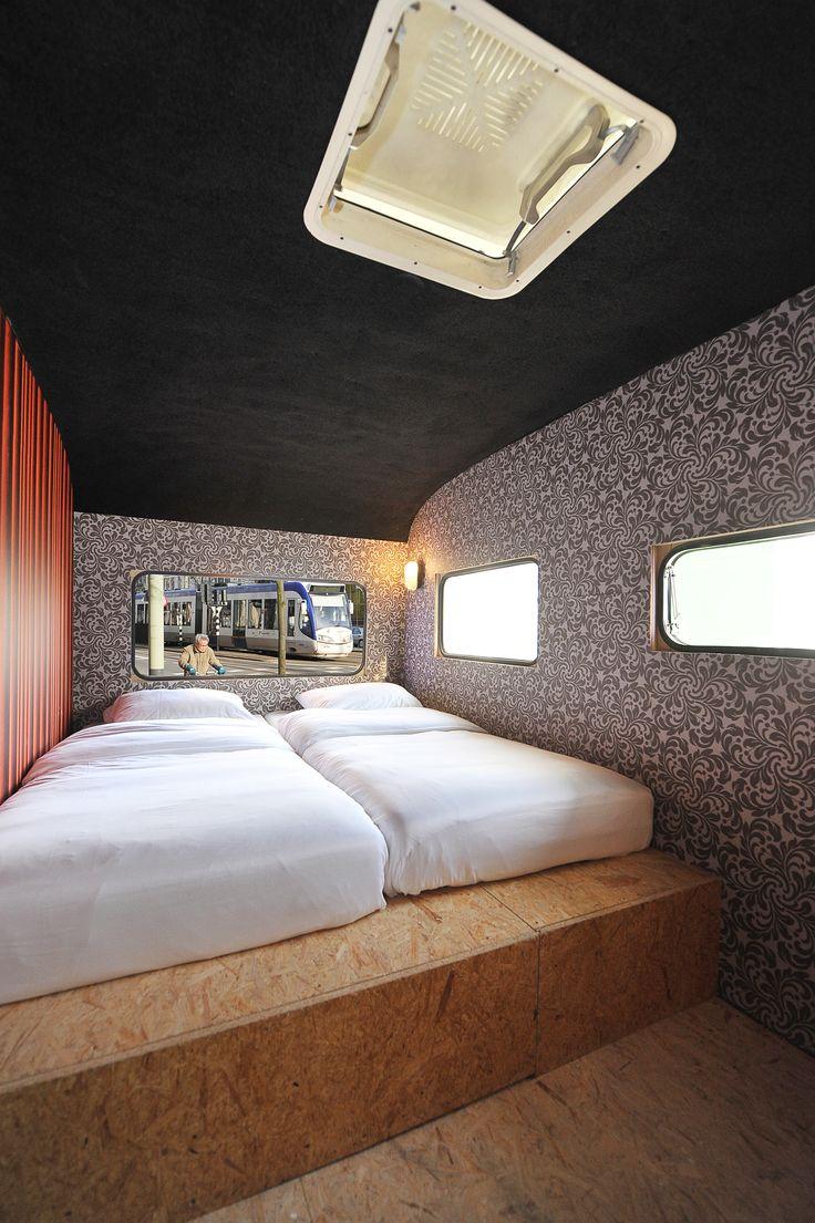 The Urban Camping Suite. Inside the Caravan.