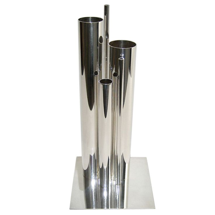 gio ponti silver vase for christofle pantry. Black Bedroom Furniture Sets. Home Design Ideas