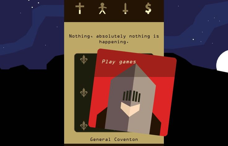 Reigns a game about ruling a kingdom through an interface thats basically Tinder just got a big u