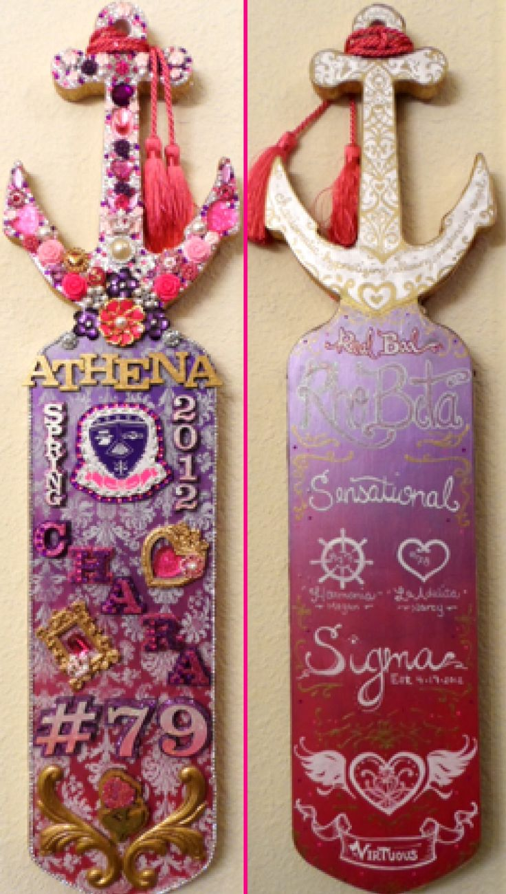 A very sparkly Sigma Lambda Gamma Paddle <3 submitted by:sparkle-empress