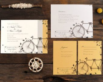 Bicycle Wedding Invitations Bicycles Bikes Bicycle by DeanPenn