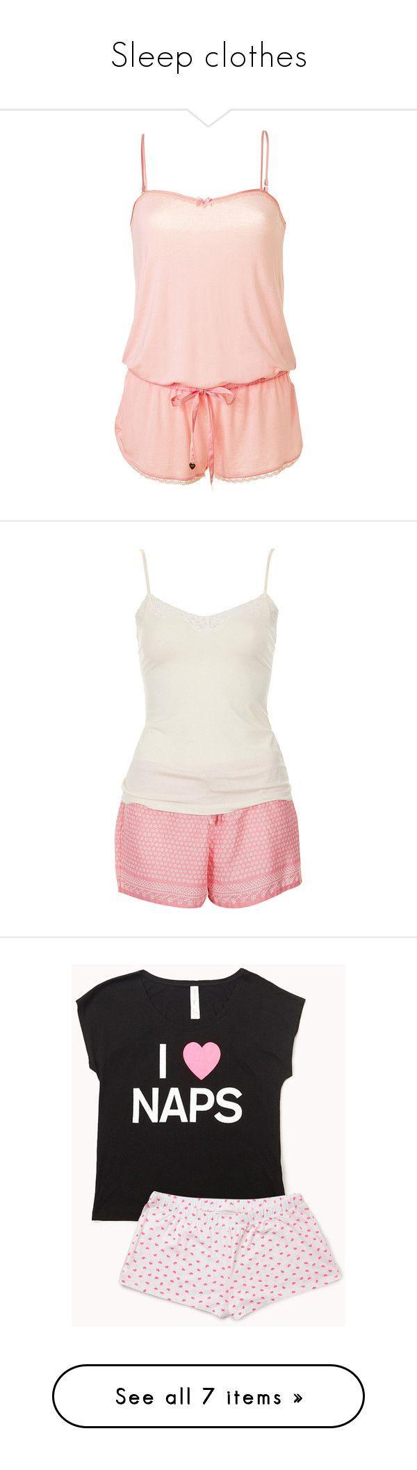 """""""Sleep clothes"""" by livstephanovichi ❤ liked on Polyvore featuring rompers, pajamas, pijama, sleepwear, dresses, juicy couture, intimates, pijamas, pyjamas and sleep"""
