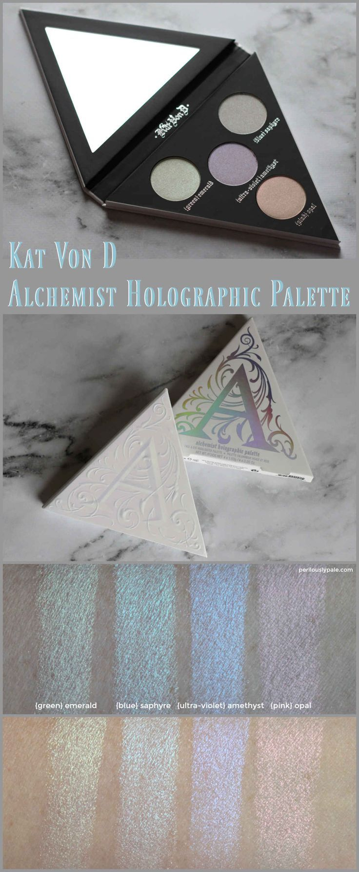 best ideas about the alchemist review the kat von d alchemist holographic palette review swatches