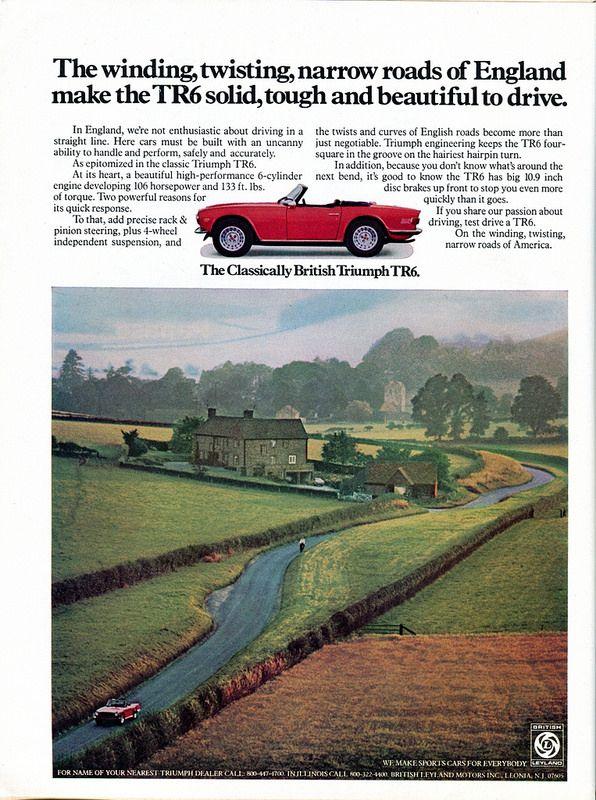 1973 triumph tr6 advertisement newsweek april 9 1973