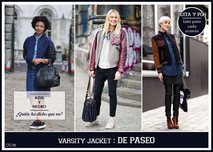 Varsity Jacket. Afterwork. Más en www.ochik.com