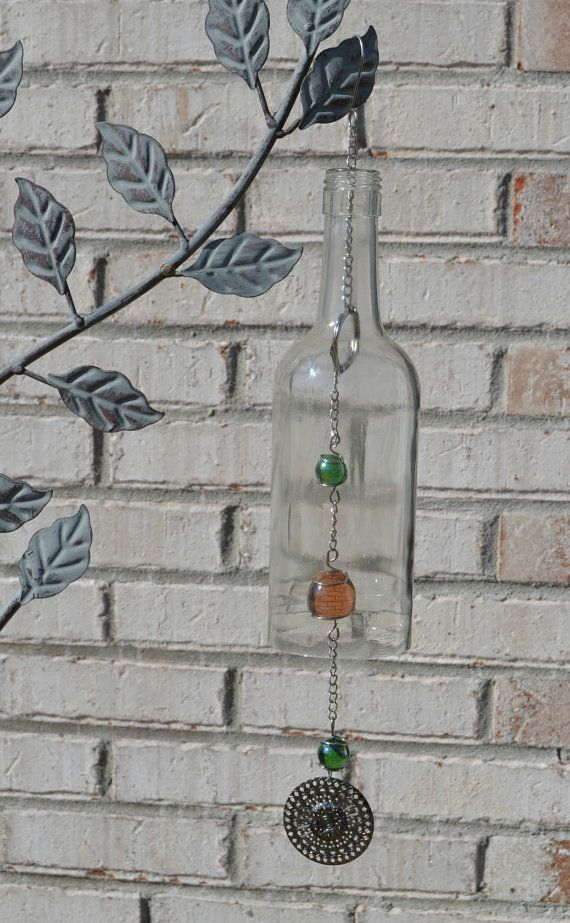 17 best images about windchimes and sun catchers on for Glass bottle wind chimes