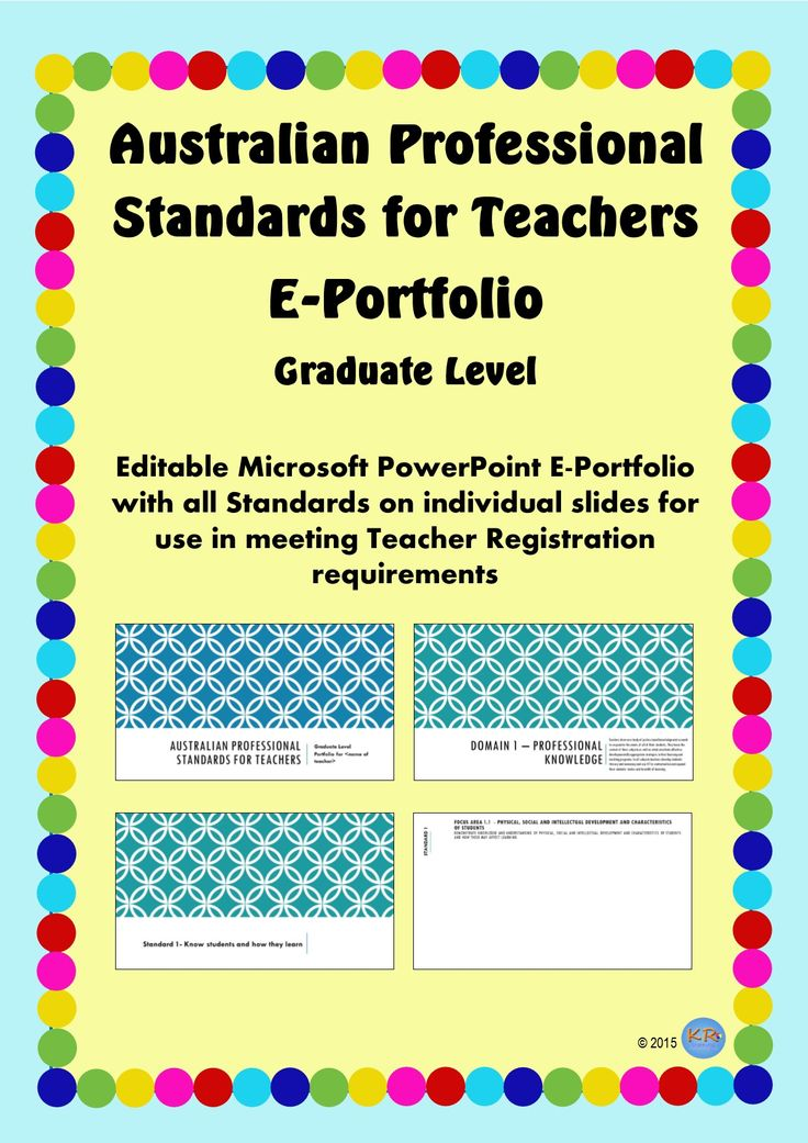 Australian Professional Standards for Teachers E Portfolio -Circles Design at Graduate Standards - Editable portfolio for you to use and maintain to show how you meet the standards. Great for Pre-Service Teacher Registration, University Assignments and showing your mentor teacher.