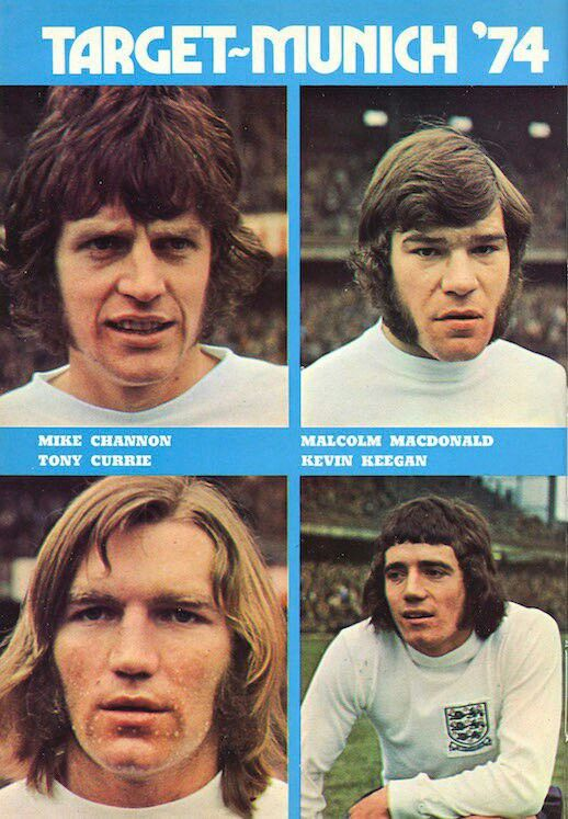 England stars in 1973 hoping for glory.