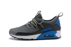 competitive price fae5c a9ad4 Mens Nike Air Max 90 Ez Wolf Grey Cool Grey Laser Blue Black White AO1745  004