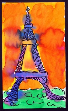 Watercolor Eiffel Tower: Claire3293's art on Artsonia