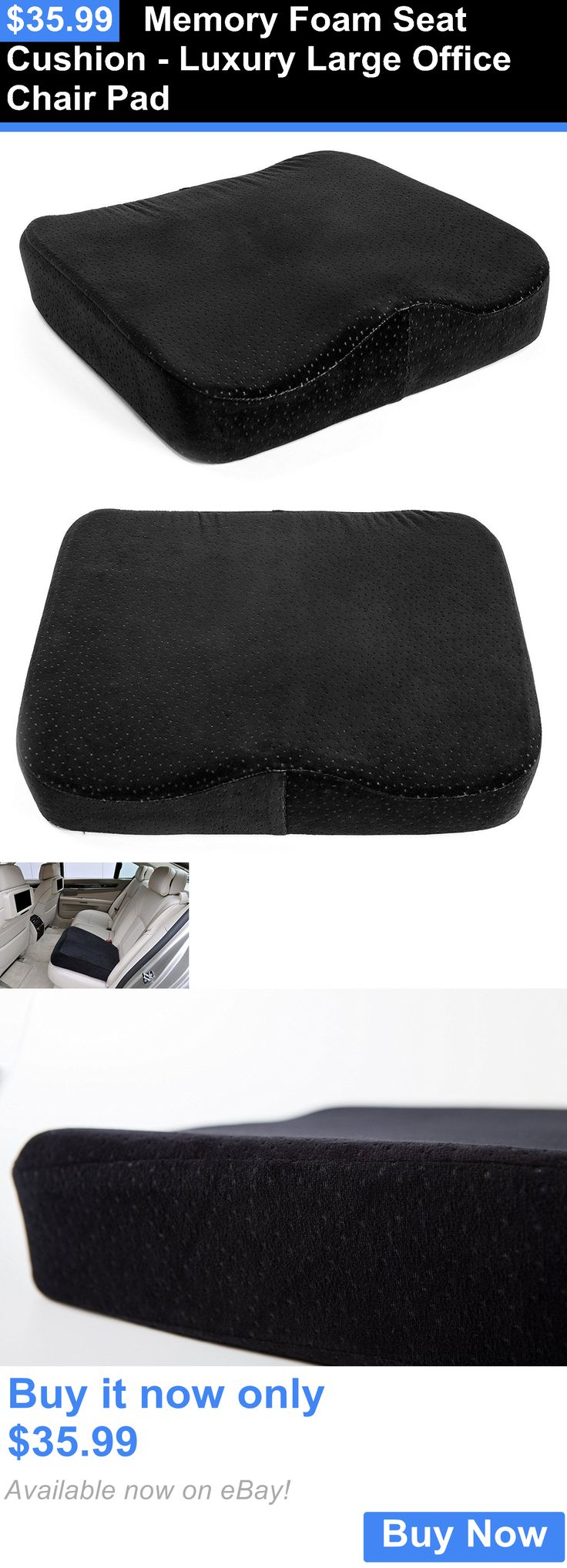 Seat and Posture Cushions: Memory Foam Seat Cushion - Luxury Large Office Chair Pad BUY IT NOW ONLY: $35.99