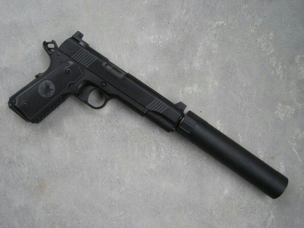 Nighthawk Customs 1911 with AAC TiRant 45S suppressor ... M1911 Suppressed Tactical
