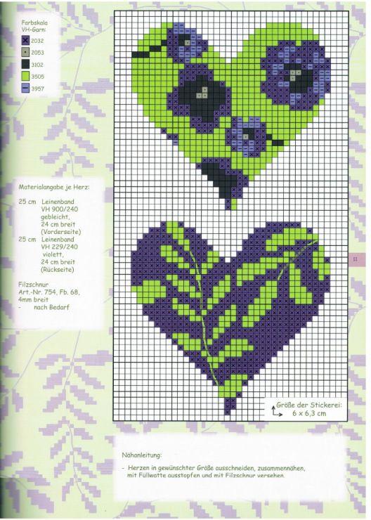 Heart cross stitch...maybe needlepoint