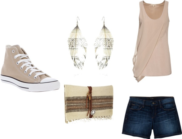 Tan, created by kayla-compton on Polyvore