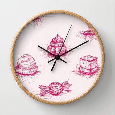 Sweet Wall Clock by Fru Kuhari - $30.00