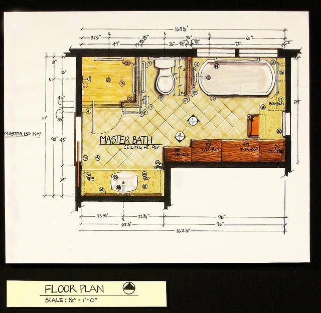 Residential Bath Design-Floor Plan by therichardlife, via Flickr