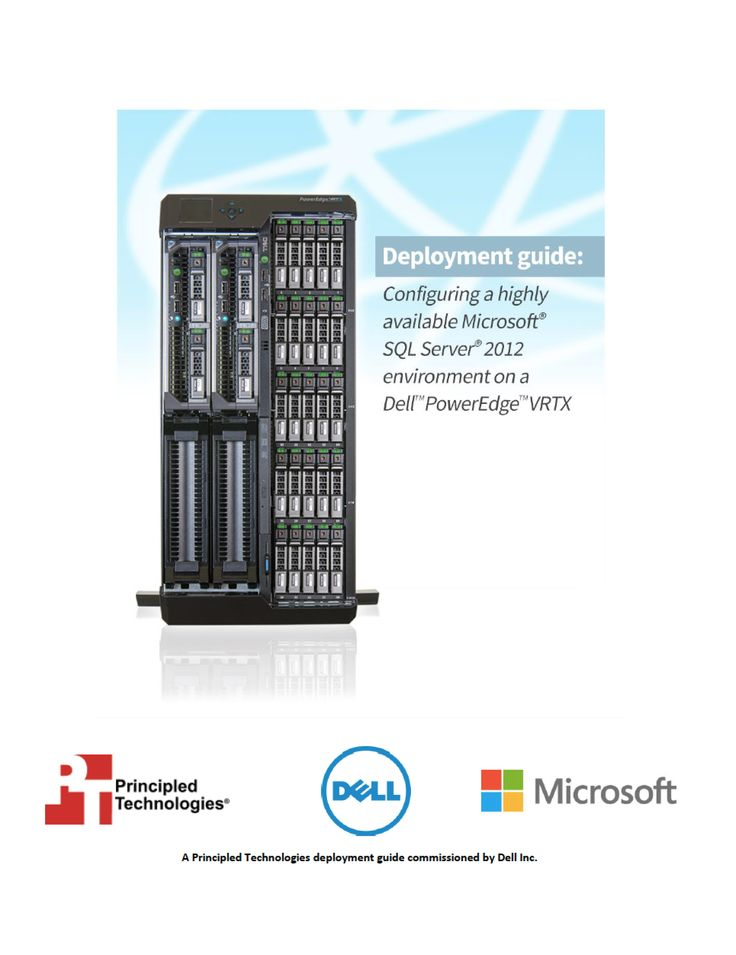 Configuring a highly available Microsoft SQL Server 2012 environment on a Dell PowerEdge VRTX http://facts.pt/1aNlyHV