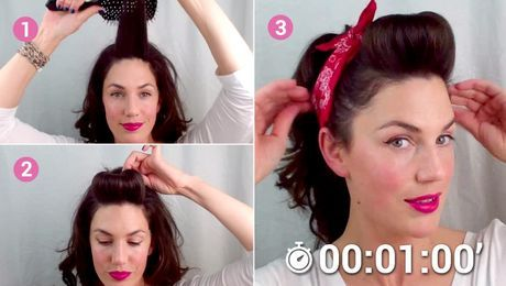Une superbe coiffure de Pin Up en 1 minute chrono
