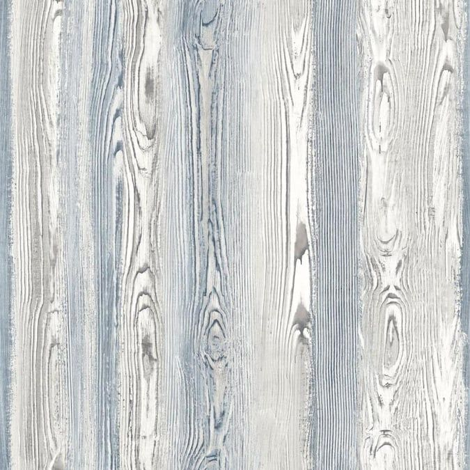 Esta Home Cady Blue Wood Panel Wallpaper Lowes Com In 2021 Wood Wallpaper Brewster Wallpaper Blue Wood