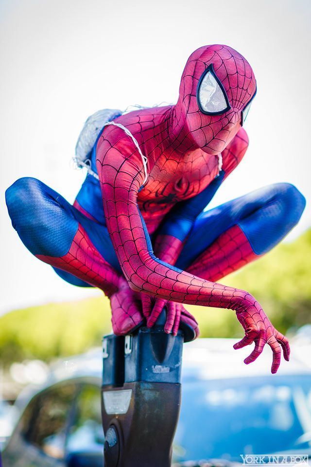 Spider-Man cosplayer MoonSpider is basically the real life Peter Parker. #YorkInABox