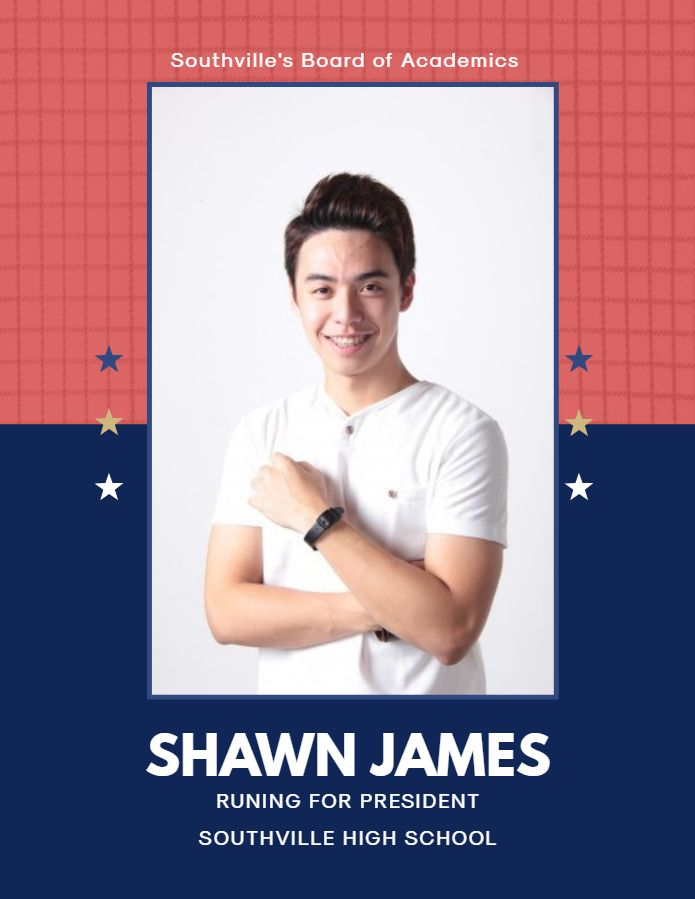 modern high school election campaign poster template election