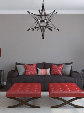 16 Best Living Room Red And Grey Images On Pinterest