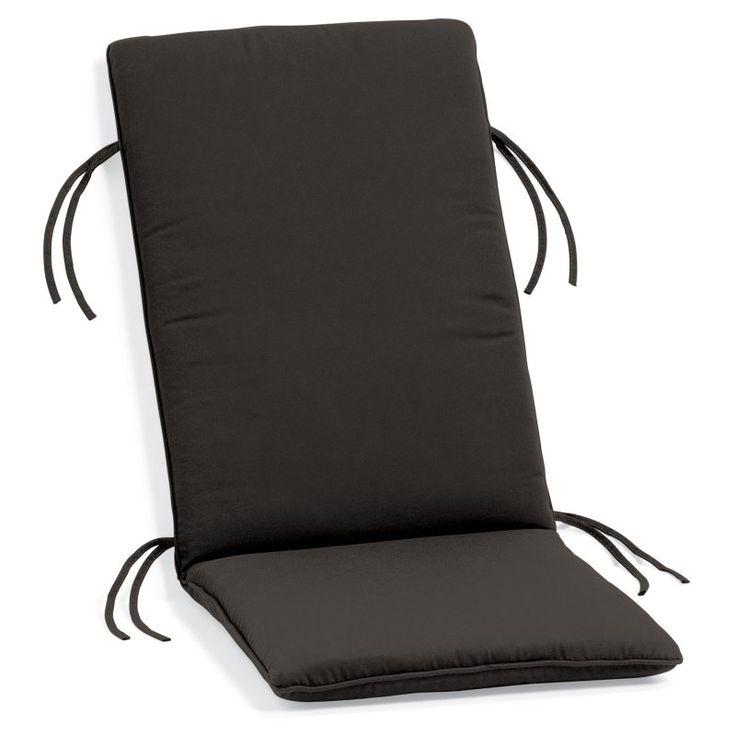 Oxford Garden Sunbrella Outdoor Reclining Armchair Cushion Black - 1SRCHBK