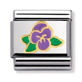 Nomination Nature - Violet Flower Charm 030278-0 15