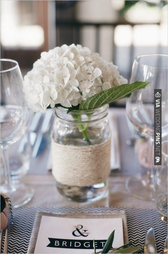 single Hydrangea decor | CHECK OUT MORE IDEAS AT WEDDINGPINS.NET | #weddings #weddingflowers #flowers