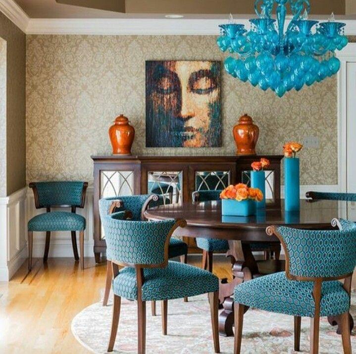 Blue And Orange Decor Home amp Garden Pinterest