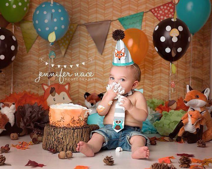 Fox one year cake smash