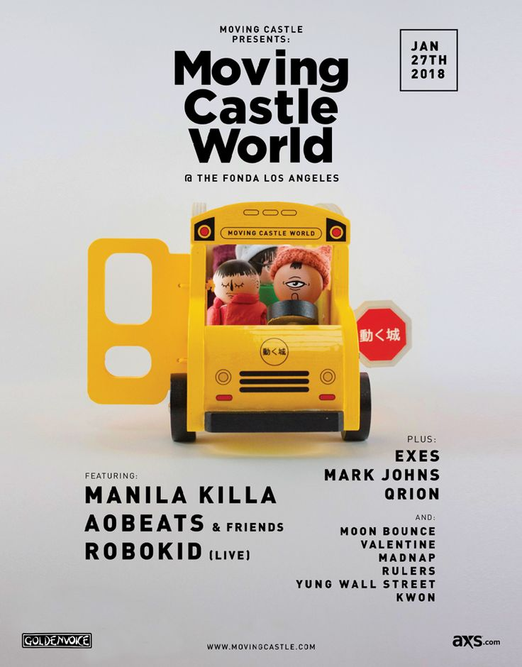 Moving Castle World, the internet collective turned record label who have taken electronic music by storm over the past few years, brings future bass producers Manila Killa, AObeats, Robokid & others to Fonda Theatre this Saturday!