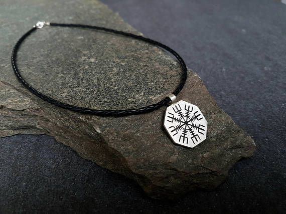 Icelandic helm of awe rune necklace
