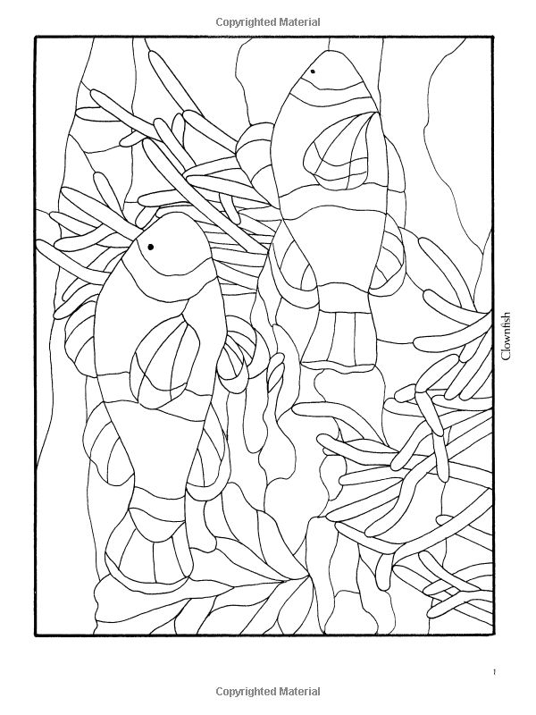 Amazon.com: Marine Animals Stained Glass Pattern Book (Dover Stained Glass Instruction) (9780486270166): Carolyn Relei: Books