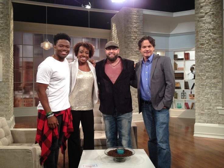 The Woodlawn team (Caleb Castille, Andy Erwin and Kevin Downes) at 100 Huntley Street. This amazing movie released on Oct 16, 2015.