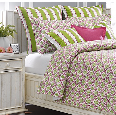 With Love Home Decor   Pink/Green Maddie Bedding Set, Custom, American Made  Bedding!