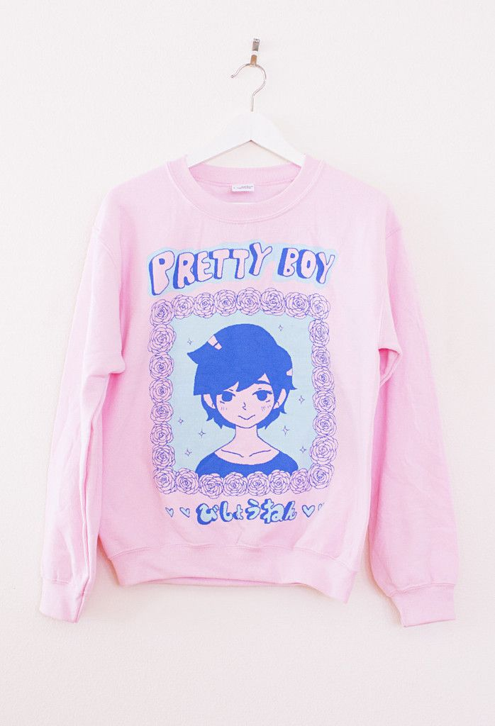 Original design by the artist OMOCAT screen-printed on a unisex 50% cotton 50% polyester crewneck sweater. If it's chilly out, let PRETTYBOY keep you warm and cozy. SIZE: XL