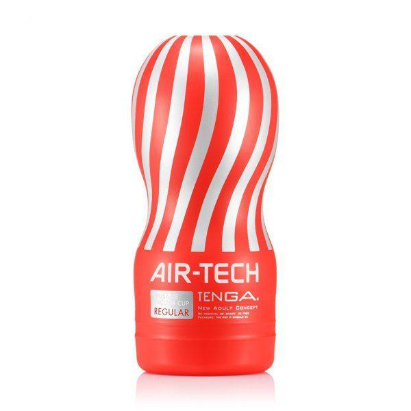 Tenga - Air-Tech Reusable Vacuum Cup (regular) - Masturbatory  Poznaj zapierające dech w piersiach wrażenia, jakie oferuje Tenga Air-Tech! Specjalnie zaprojektowana struktura Airflow, uformowana w postaci spiralnych korytarzy wewnątrz tego najwyższej jakości masturbatora pozwala odczuć niesamowicie intensywne uczucie ssania, które może być kontrolowane za pomocą kciuka.  Dostępny na www.tabu24.pl
