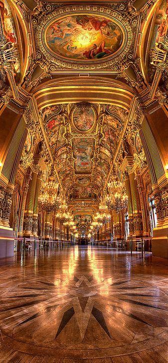 Le grand foyer Opéra Garnier, Paris, France (HDR)