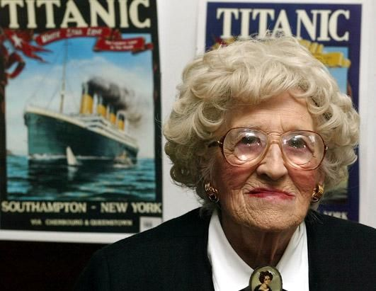 Elizabeth Gladys Millvina Dean was the Titanic's last living survivor. She is seen here in April 2002. She was only 9 weeks old when the ship sank