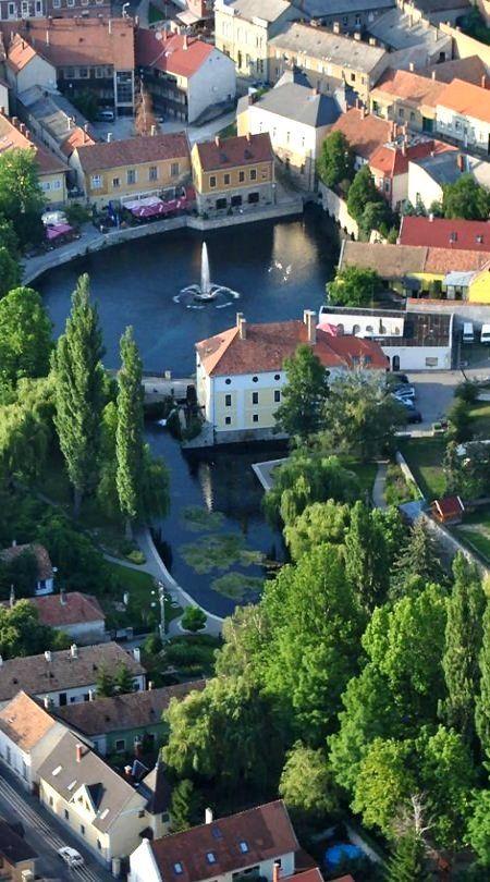 Tapolca town in Veszprém county, Hungary