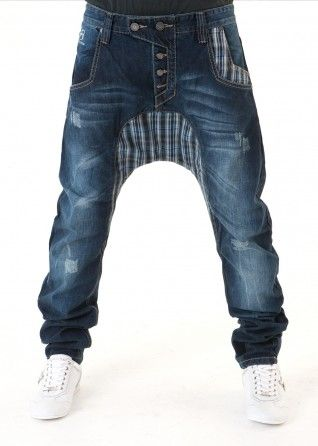 FDP Check Low Crotch Jeans