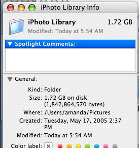 how to transfer iphoto library to external hard drive