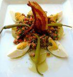 #Ensalada de #lentejas con #verduras y #tocineta con #vinagre de #Jerez... ¡Para chuparse los dedos!