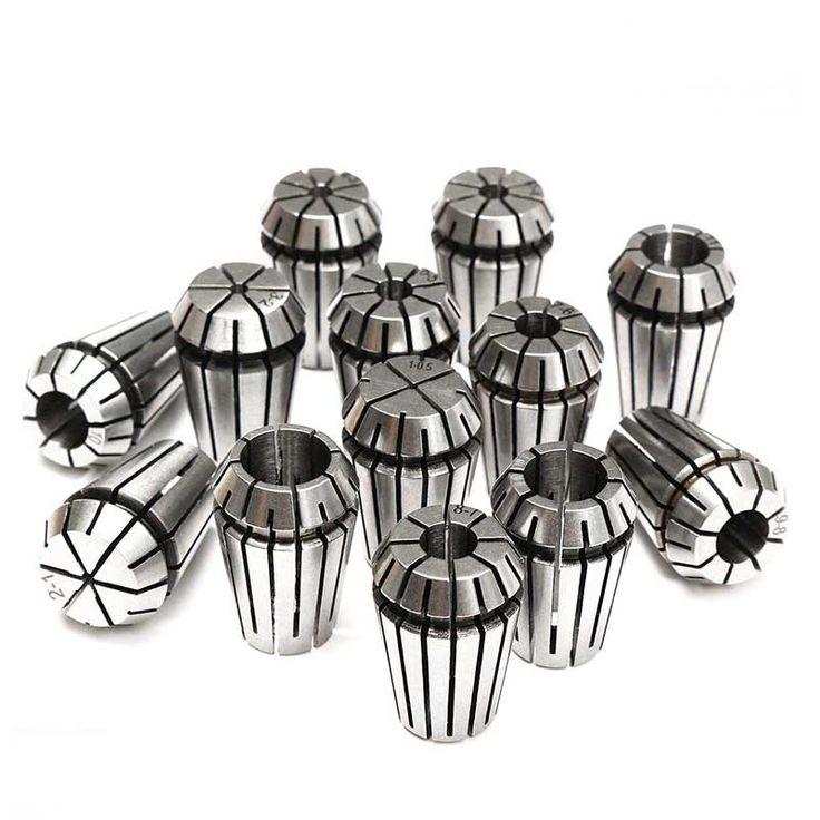 13Pcs/lot Precision ER20 Spring Collet Chuck Set For CNC Milling Lathe Tool Engraving Machine