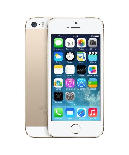 "Smartphone Iphone Apple 5S 4"" 32GB 4G Câmera 8MP Wifi iOS 10 Safari  Claro Dourado - Único"