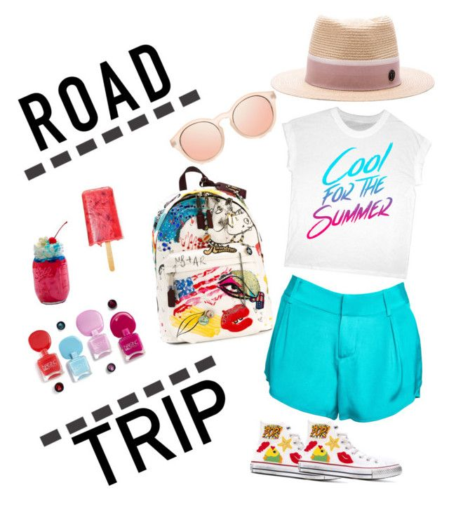 """""""Summer Road Trip"""" by amaliamatei on Polyvore featuring Maison Michel, Alice + Olivia, Marc Jacobs, Converse and roadtrip"""