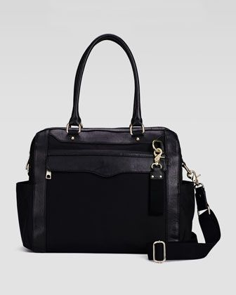 Knocked+Up+Nylon+Diaper+Bag,+Black+by+Rebecca+Minkoff+at+Neiman+Marcus.
