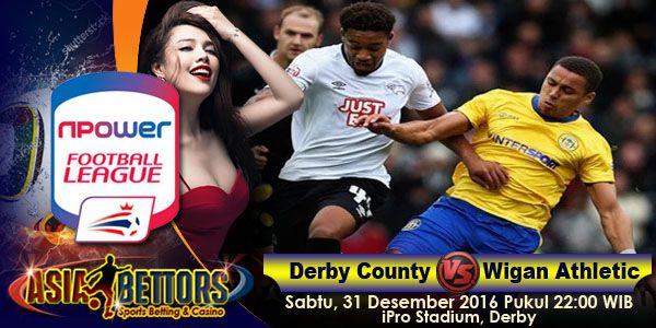 Prediksi Derby County vs Wigan Athletic, Preview Derby County vs Wigan Athletic, Derby County vs Wigan Athletic akan bertemu di partai lanjutan Championship Inggris yang rencananya akan digelar pada hari Sabtu, 31 Desember 2016 Pukul 22:00 WIB dan disiarkan secara live dari iPro Stadium, Derby.